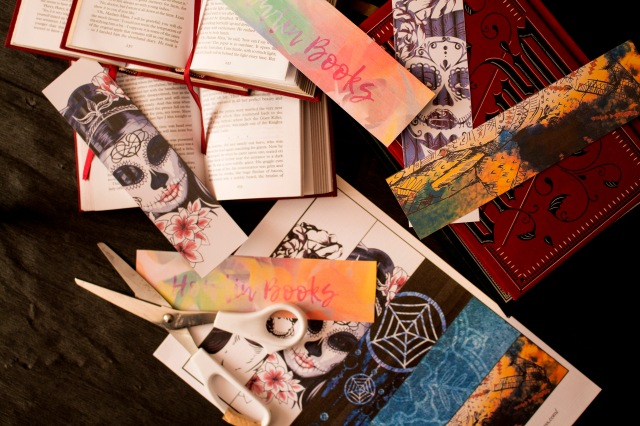 sugar skull watercolor dreamcatcher bookmark printable