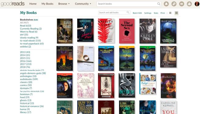 Goodreads My Books Page Elaine Howlin Literary Blog