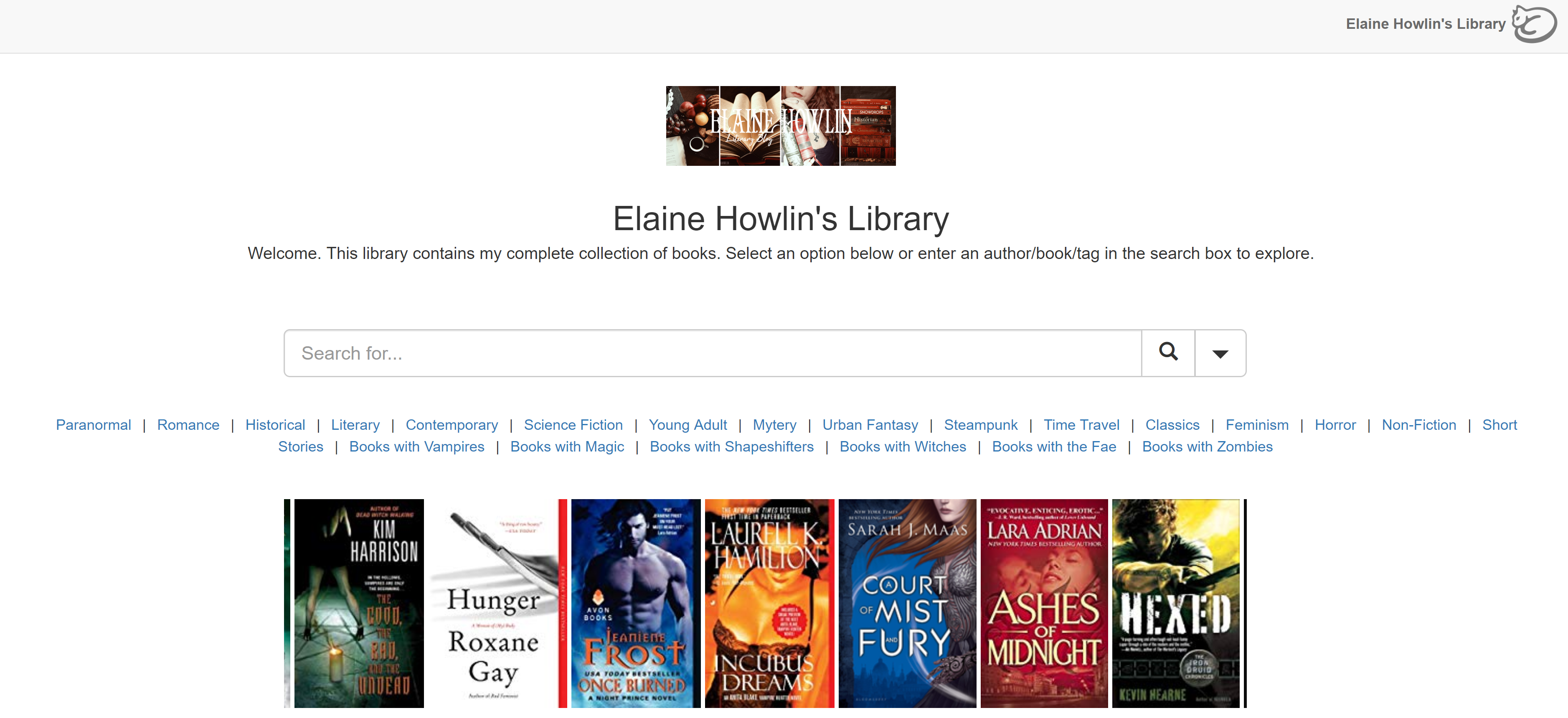 LibraryCat Elaine Howlin's Library Literary Blog
