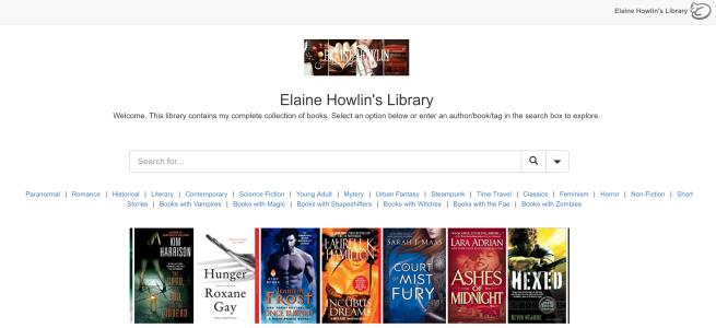 LibraryCat Elaine Howlin's Library Literary Blog