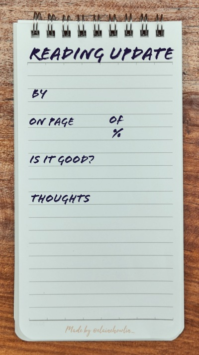 Notepad Reading Update Instagram Story Template ElaineHowlin Literary Blog