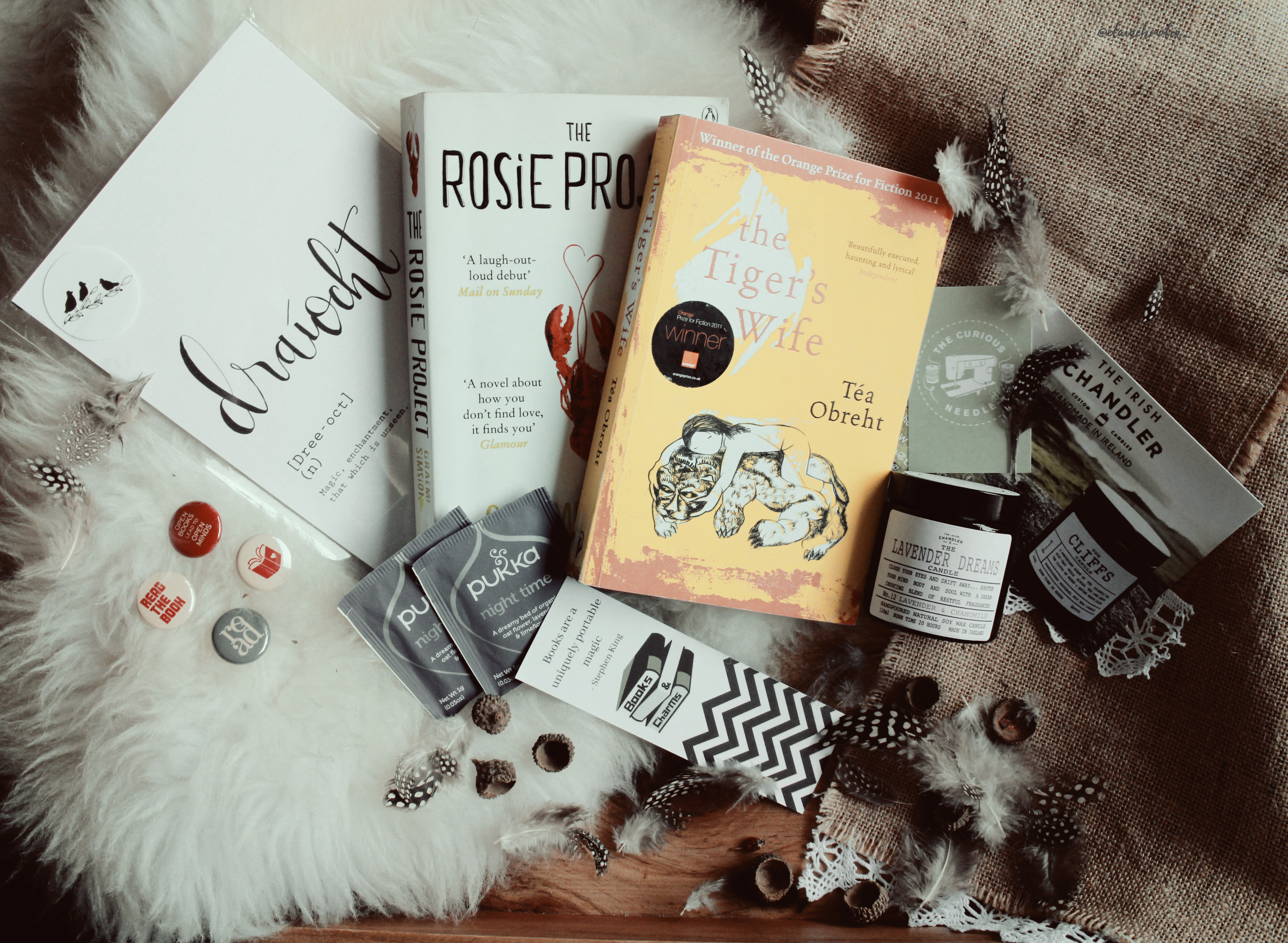 Books and Charms Box Contents Elaine Howlin Literary Blog