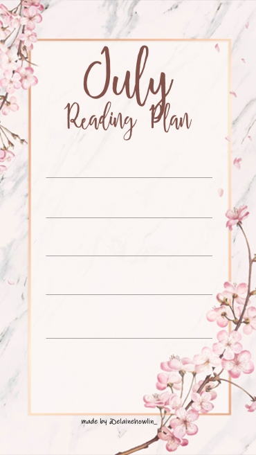 July TBR Reading Plan Instagram Story Template Elaine Howlin Book Blog