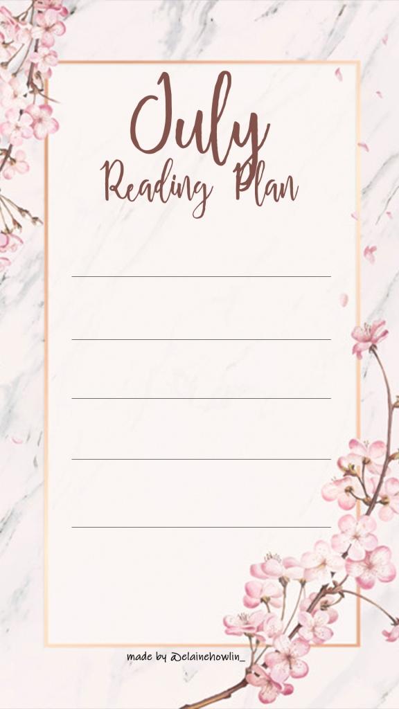 July TBR Reading Plan Instagram Story Template Elaine Howlin Book Blog