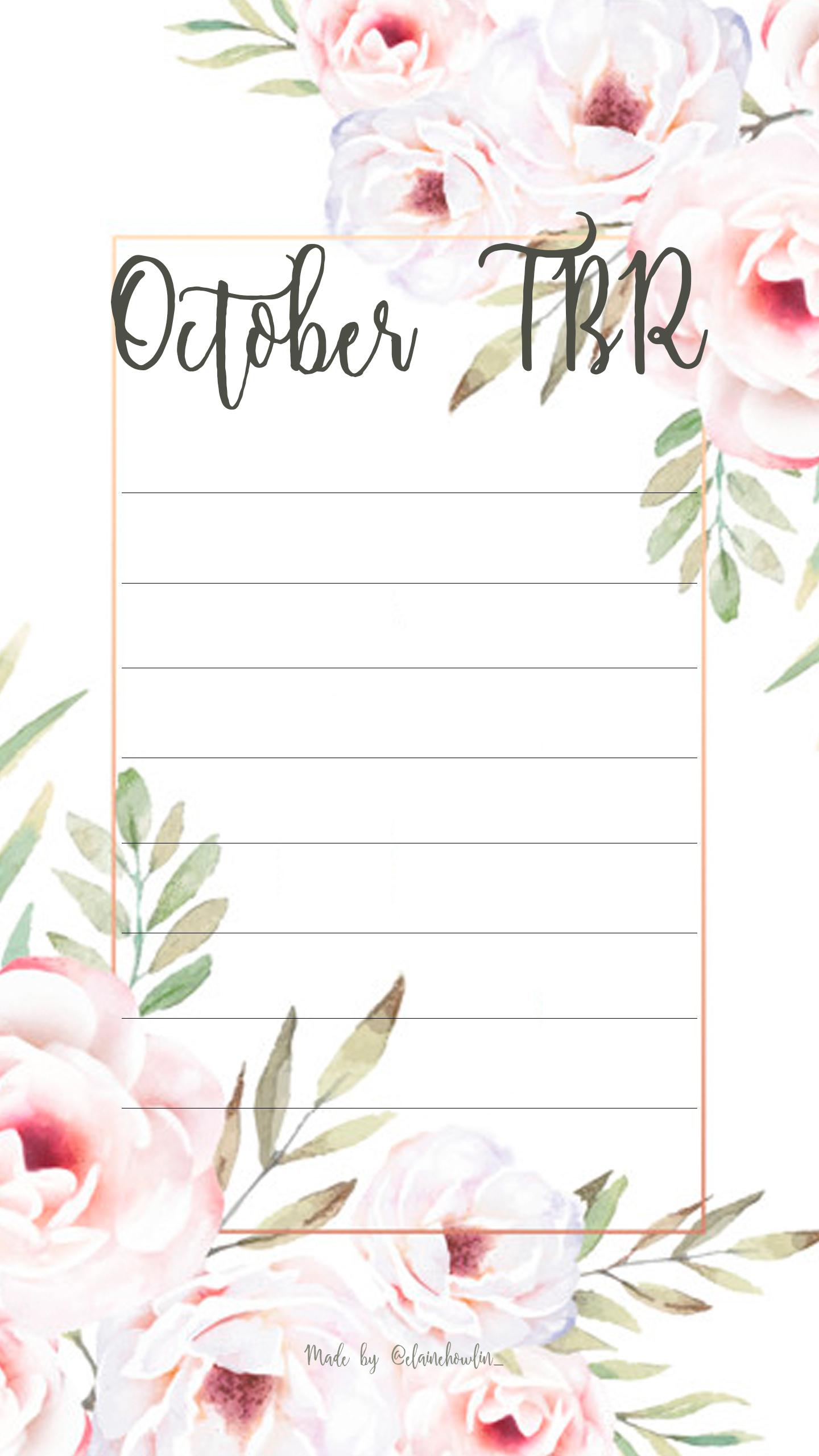 TBR October Elaine Howlin Bookstagram