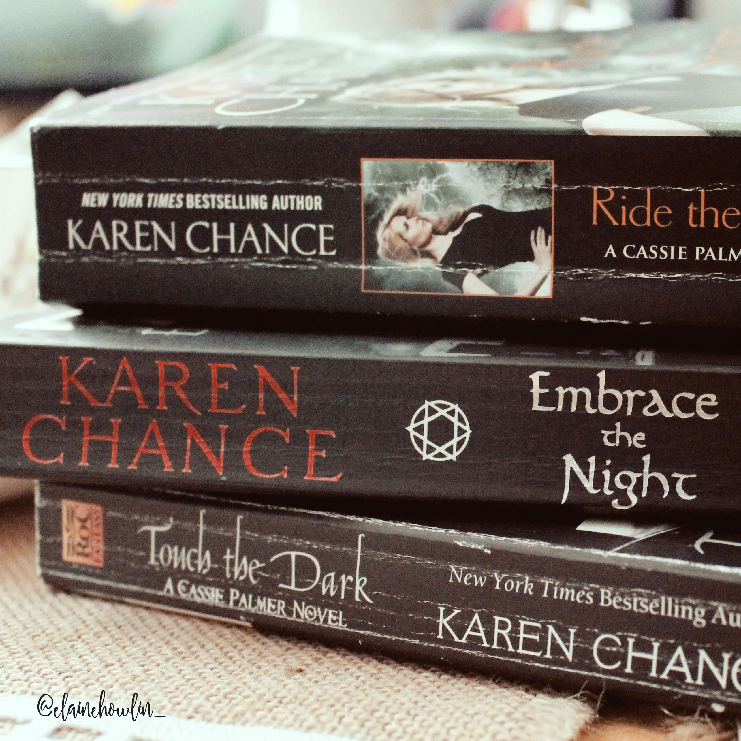 Touch the Dark Embrace the Night Ride the Storm Cassie Palmer Karen Chance Book Spines