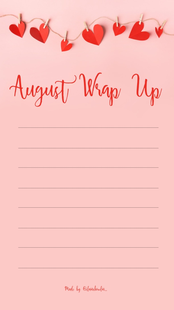 Wrap Up August Elaine Howlin Bookstagram