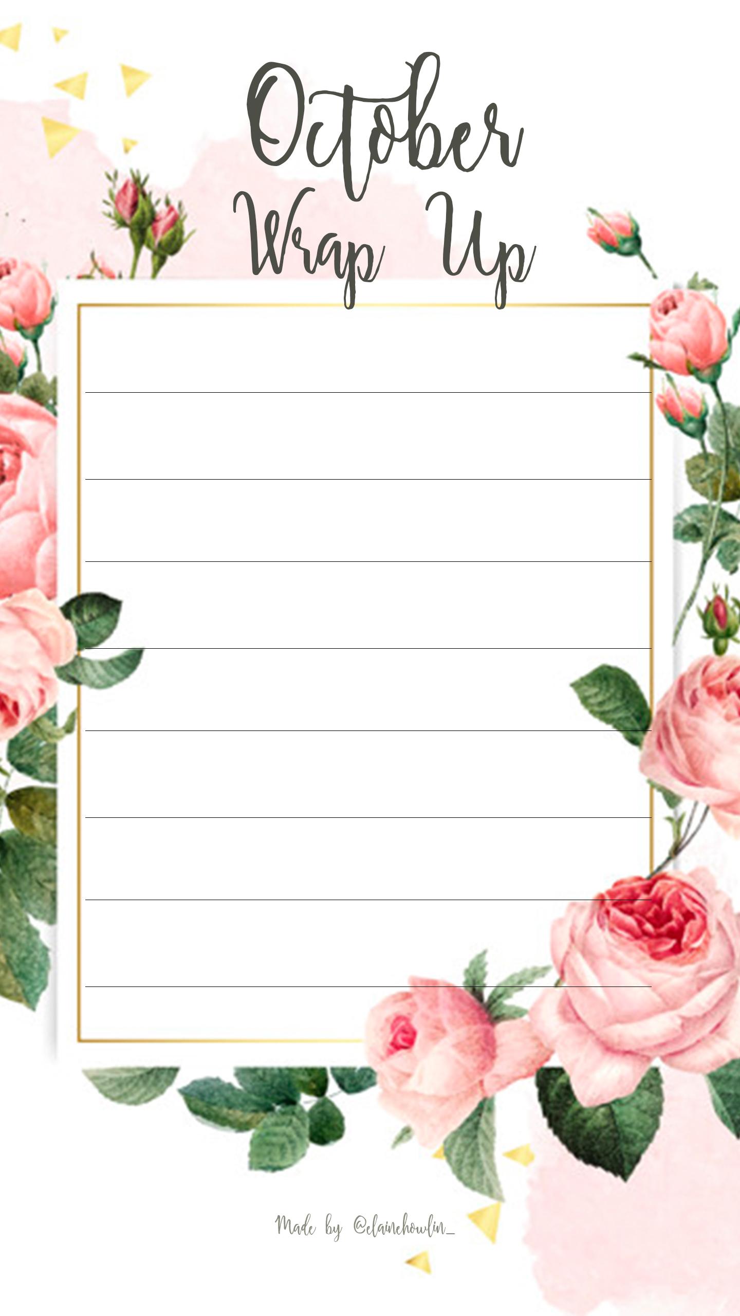 Wrap Up October Elaine Howlin Bookstagram