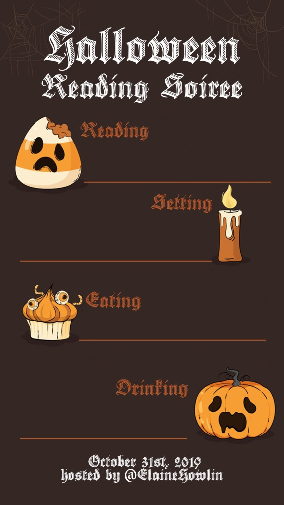 Halloween Reading Soiree Plans Instagram Story Template Elaine Howlin