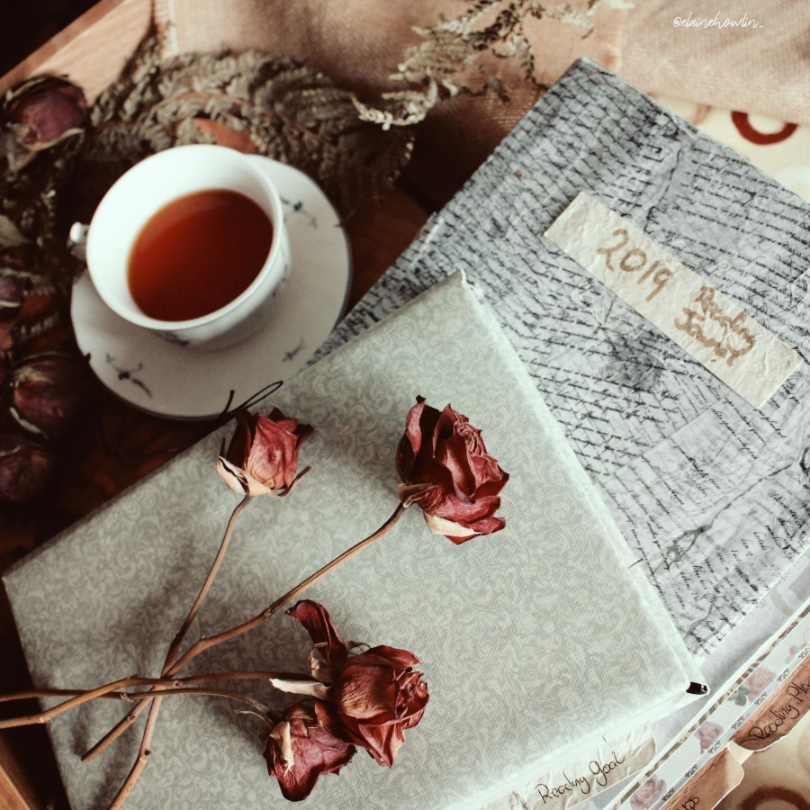 Reading Journals 2019 2020 dried roses Elaine Howlin Bookstagram