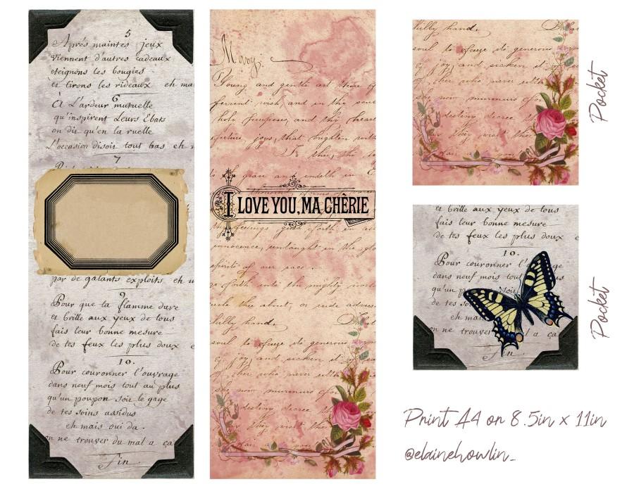 Bookmarks Printable Junk Journal style Elaine Howlin