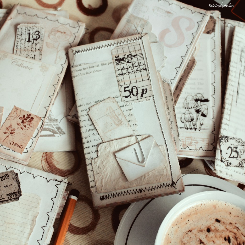 Mini Book Journals Coffee vintage junk journal Elaine Howlin