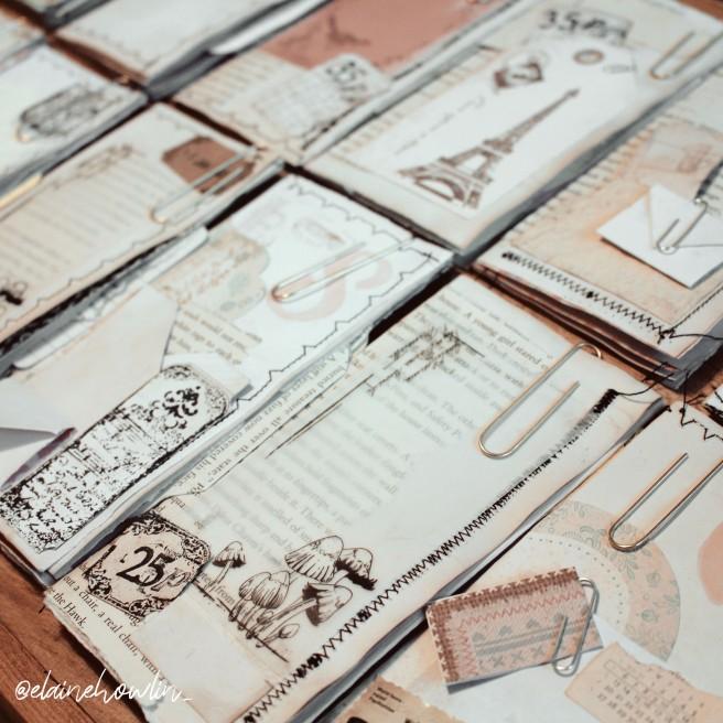 Mini Book Journals vintage junk journal tags square Elaine Howlin