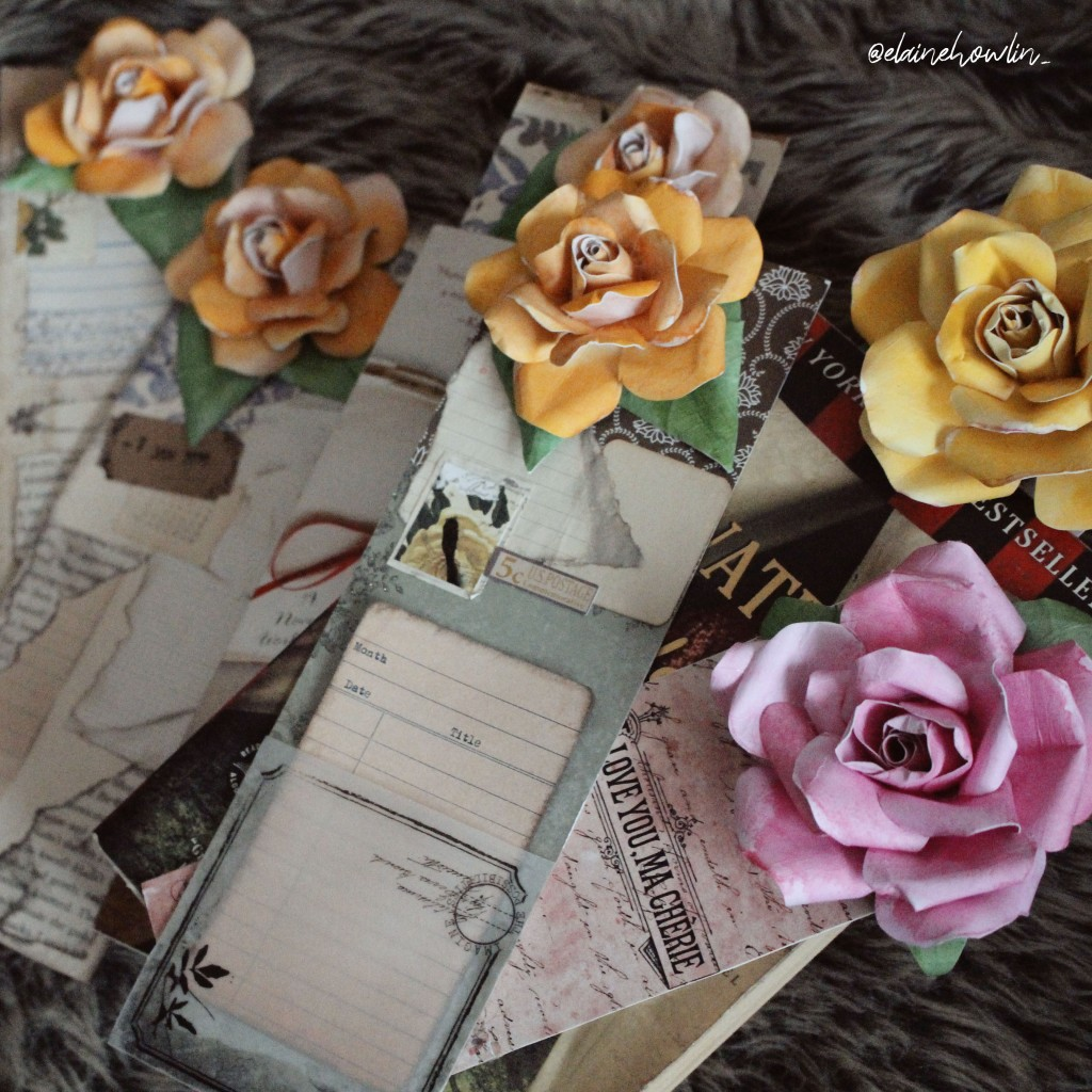 Flower Bookmarks Junk Journal Vintage Ephemera Elaine Howlin