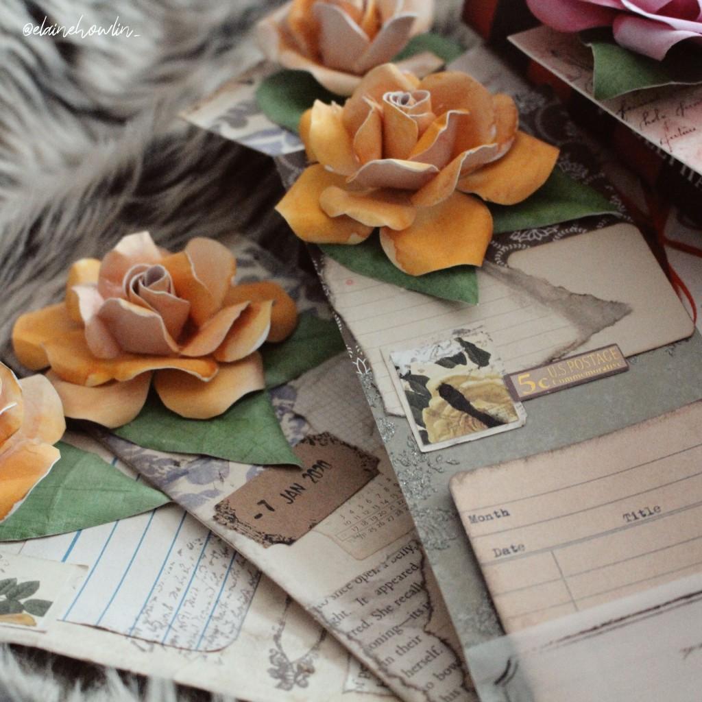Flower Bookmarks Junk Journal Vintage Paper Elaine Howlin