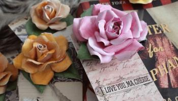 Flower Bookmarks Junk Journal Vintage Style Elaine Howlin