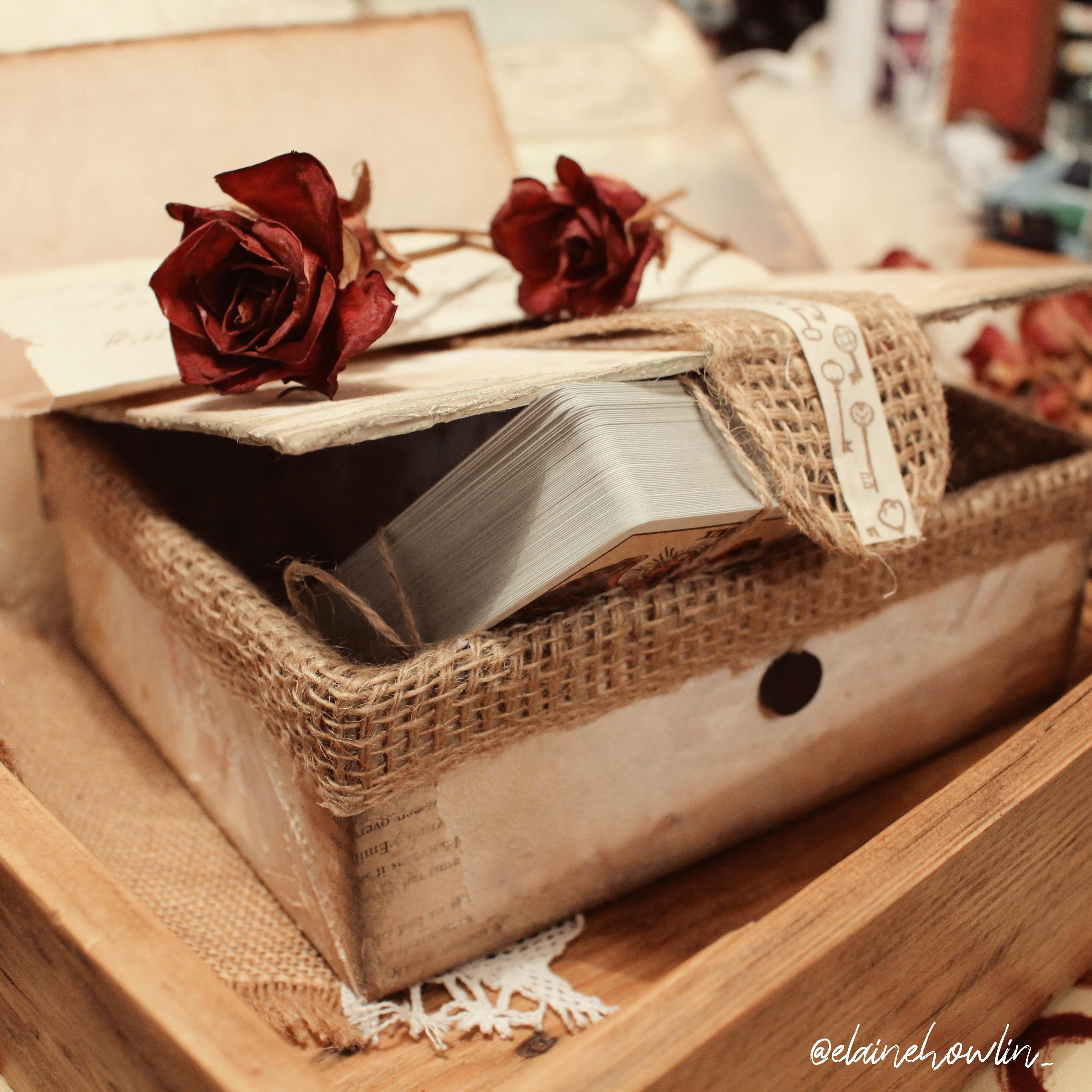 Rustic Vintage Tarot Card Box DIY Elaine Howlin 1