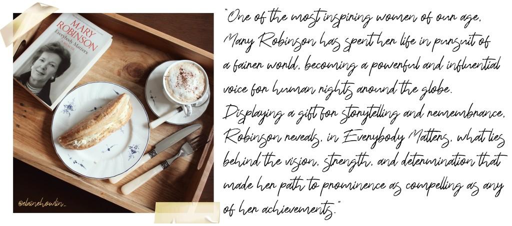 The Irish Readathon Week One Everybody Matters Mary Robinson Elaine Howlin Journal style