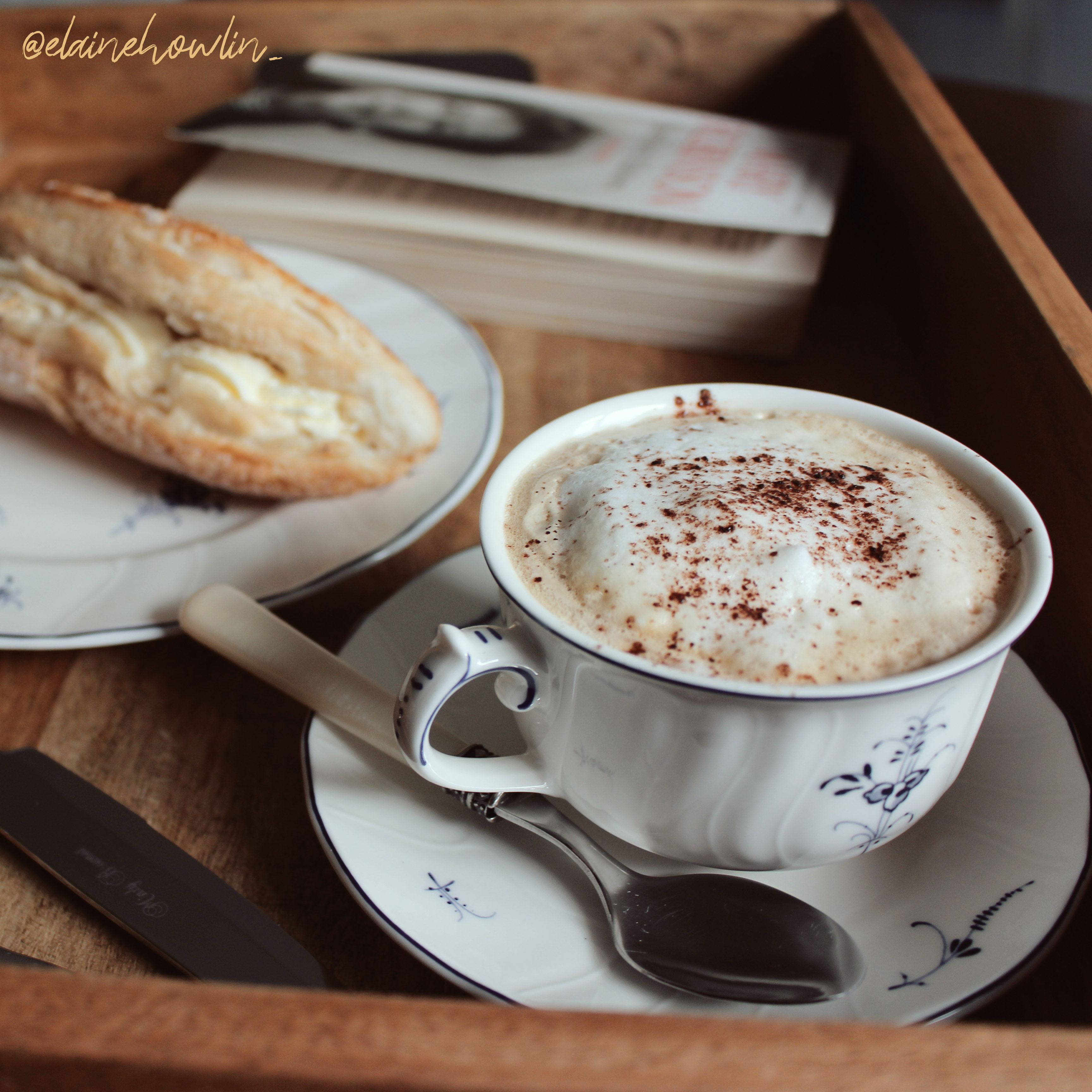 The Irish Readathon Week One Reading Vlog Coffee and Cake Tray Elaine Howlin