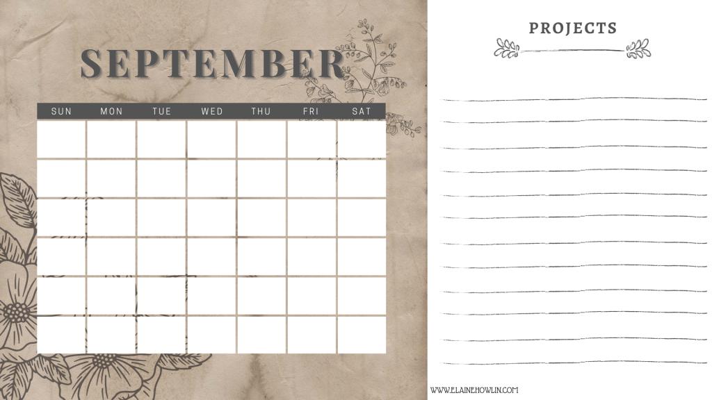 SEPTEMBER Content Planning Calendar