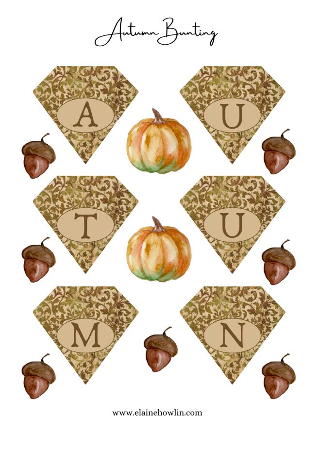 autumn bunting freebie elainehowlin
