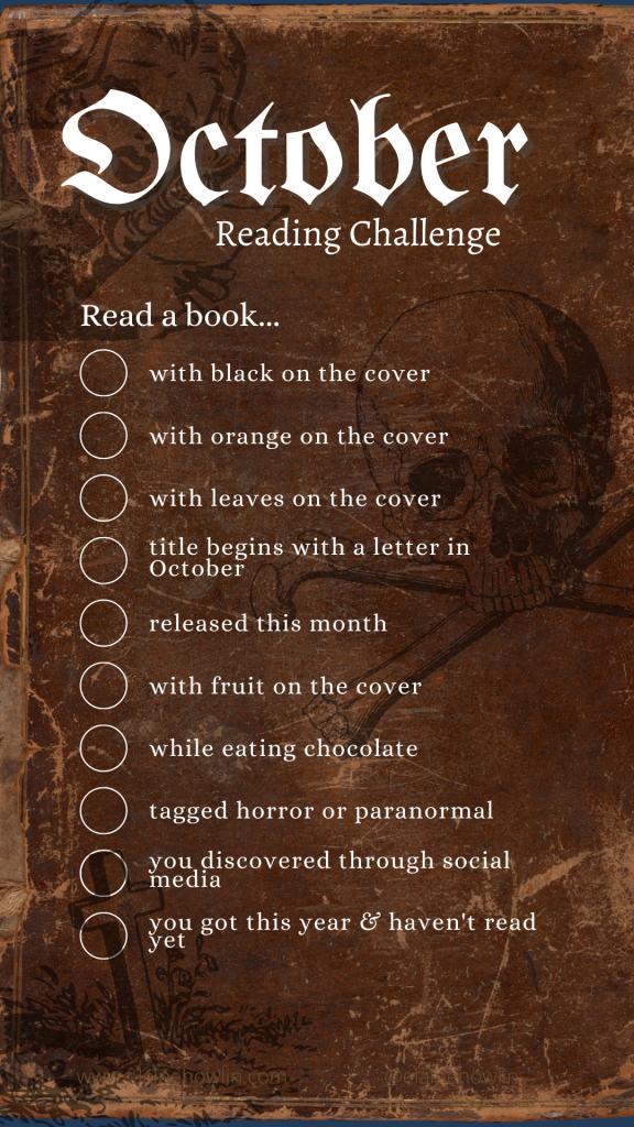 October Reading Challenge Instagram Story