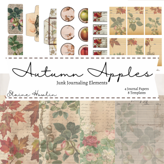 Autumn Apples Junk Journaling Pages and Ephemera Templates (1)