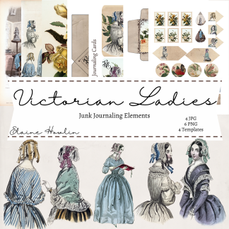 Victorian Ladies Junk Journaling Ephemera Templates (1)