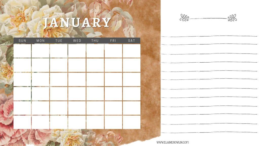 January Content Planning Calendar