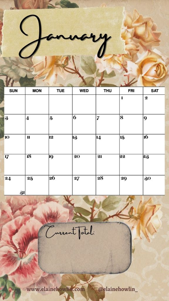 January Instagram Story Calendar Reading Tracker