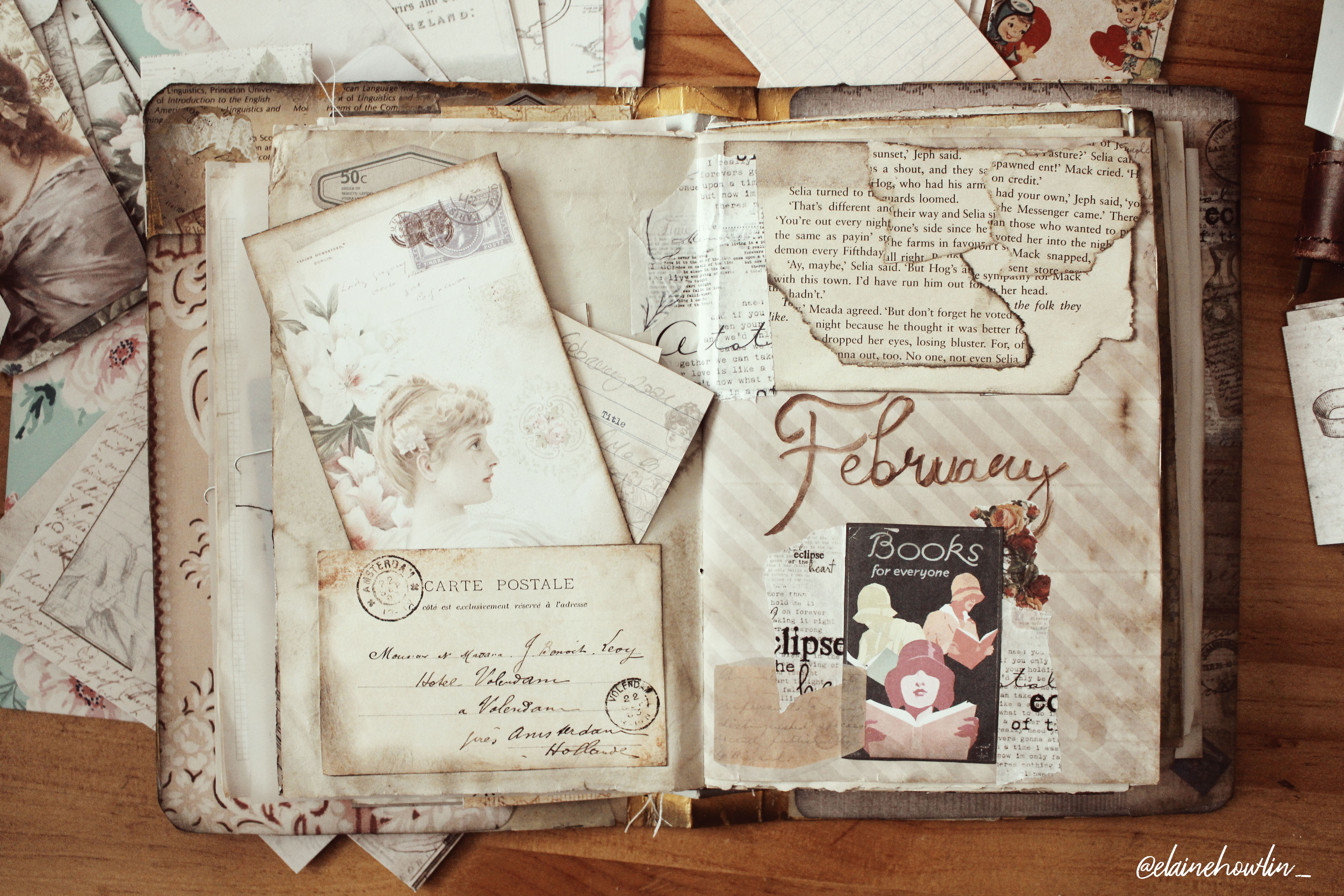 February wrap up reading journal with me Elaine Howlin 1