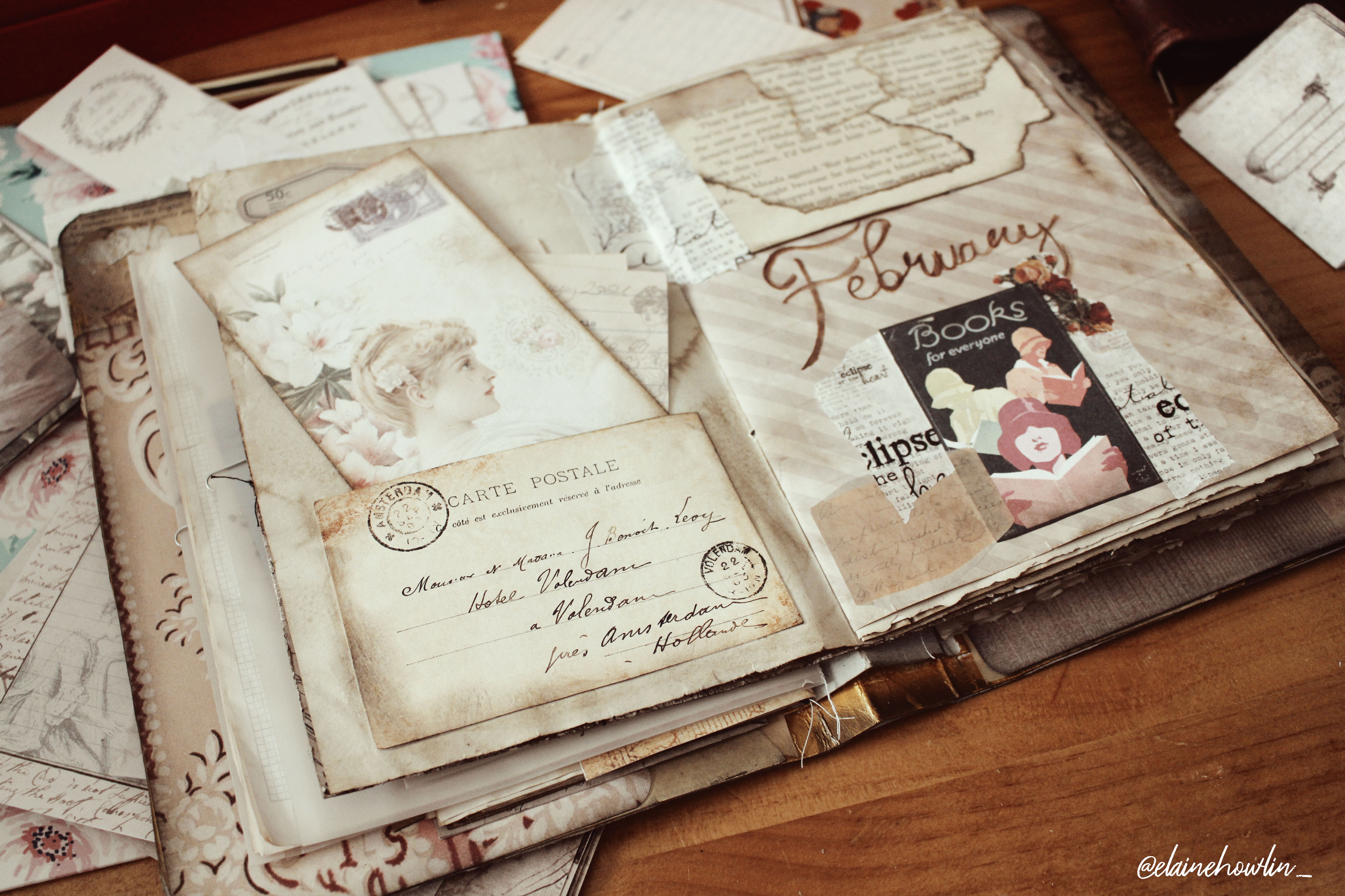 February wrap up reading journal with me Elaine Howlin
