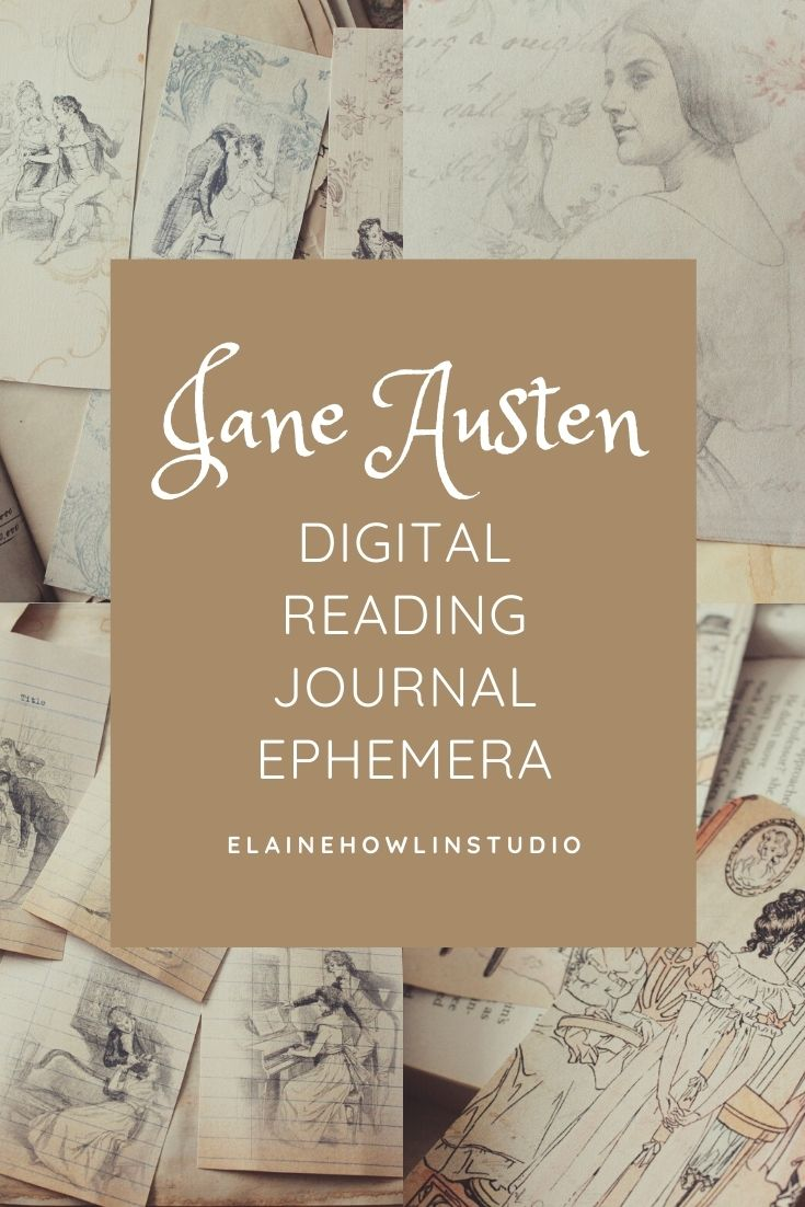 Jane Austen Reading Journal Ephemera