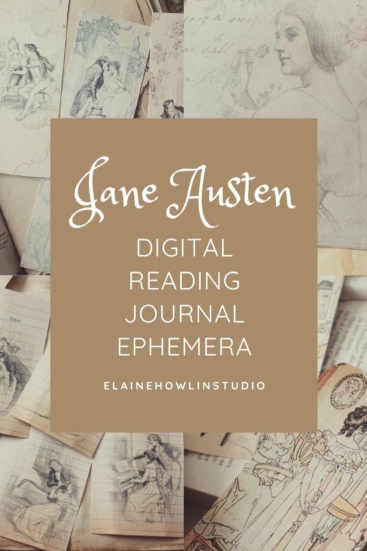 Jane Austen Reading Journal Ephemera