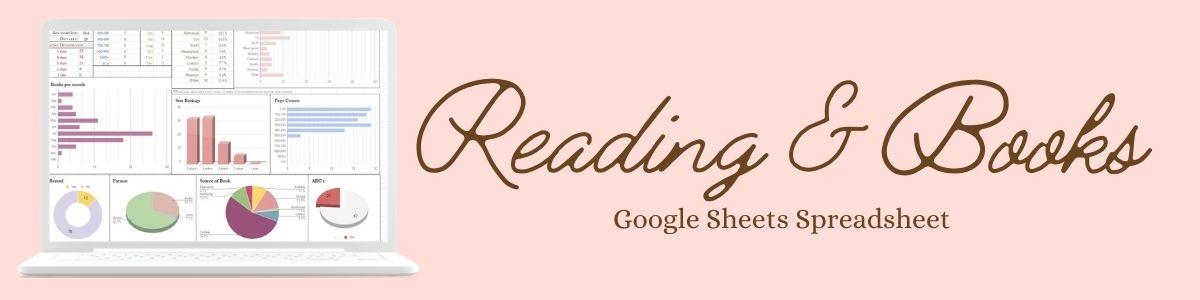 2022 Reading and books tracking spreadsheet elainehowlin HeadingsDividers