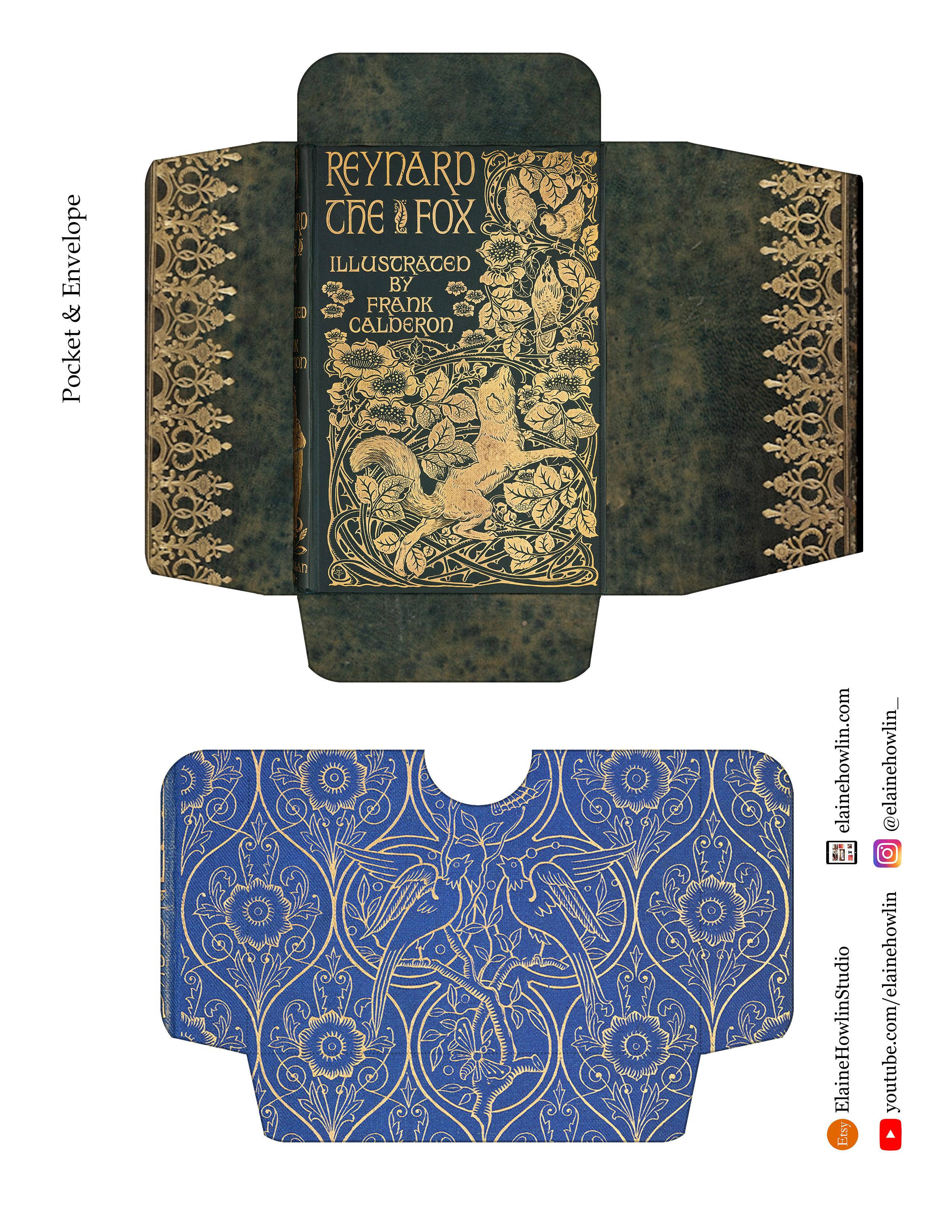Book Cover Envelope and Pocket ElaineHowlinStudio Template