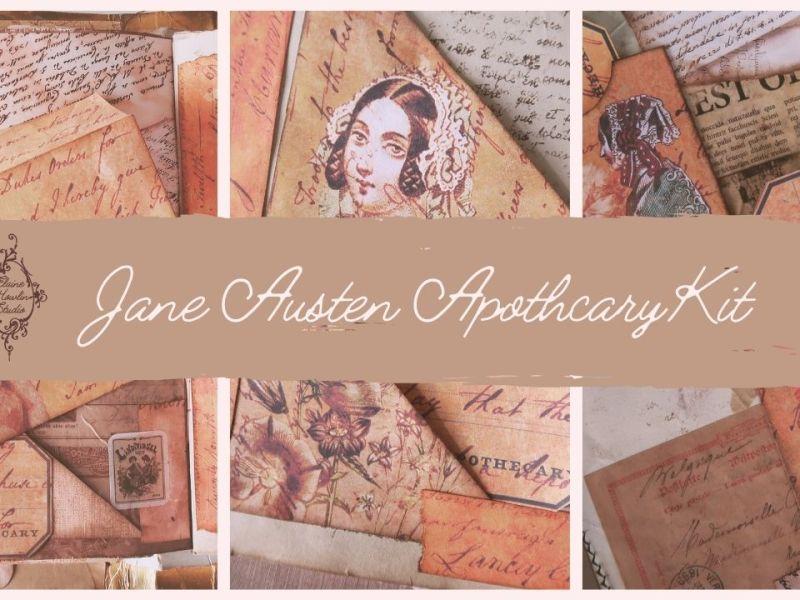 Jane Austen Apothecary Journal Kit ElaineHowlinStudio blog